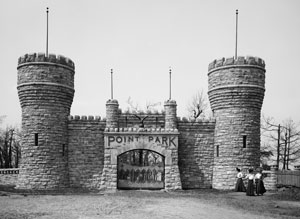 Historic photo of Point Park gates