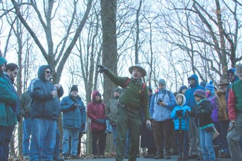 Park Historian Jim Ogden leads a tour of the battlefields of Chattanooga
