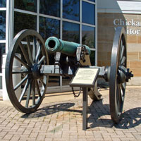 Cannon on display at visitor center.