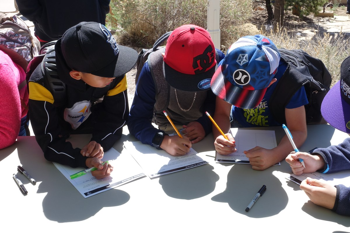 Students work on a Chaco activity.