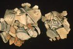 Photo of various types of pottery sherds