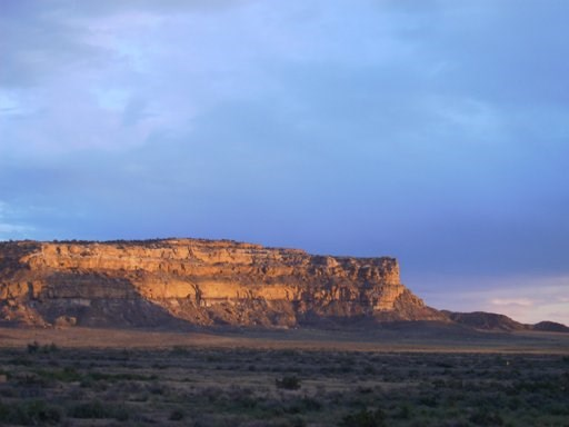 Chacra Mesa at Sunset