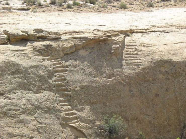 Photo of Jackson stairs from Pueblo Alto trail