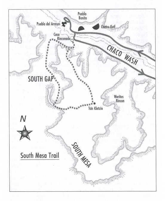 Map of South Mesa Trail