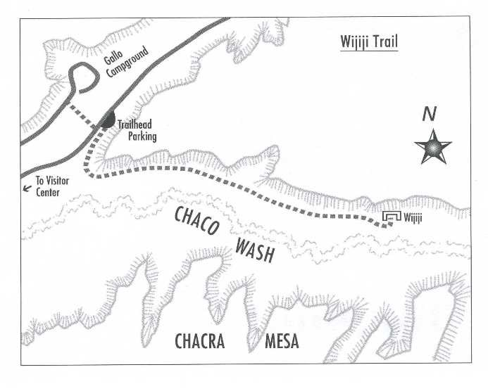 Map of bike trail to Wijiji