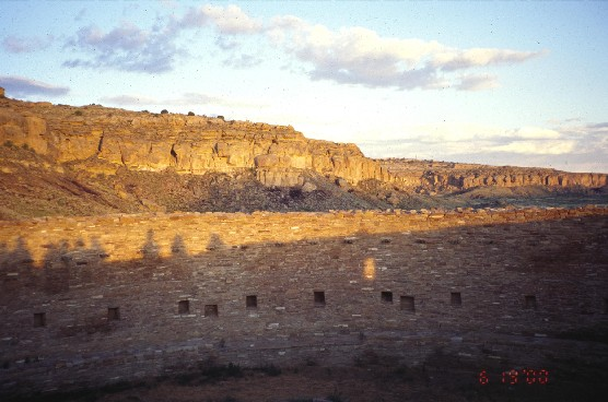 Photo of wall of Casa Rinconada at sunrise
