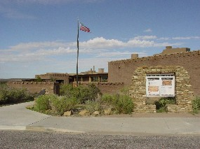 Photo of Visitor Center at Chaco Culture NHP.