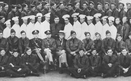 Group photograph of men in the CCC uniform