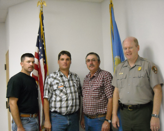 Fire Department Chiefs with park superintendent