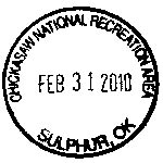 Passport stamp image showing park name, location, and date