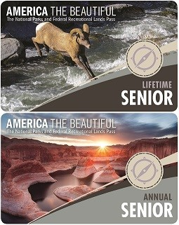 New 2017 Lifetime and Annual Senior Passes depicted