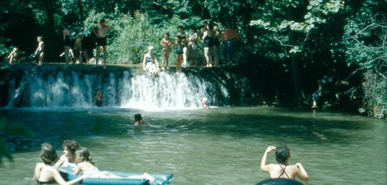 Swimming at Little Niagra, 1957