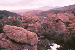 Inspiration point can be accessed from the Heart of Rocks trail, and offers an excellent view of the valleys below.