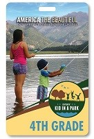 Photo of every kid in a park pass with a woman and child fishing in a river