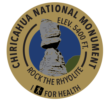 I Hike for Health pin for Chiricahua National Monument