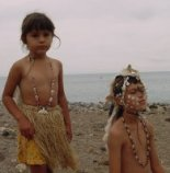Chumash children celebrate the tomol crossing at Santa Cruz Island