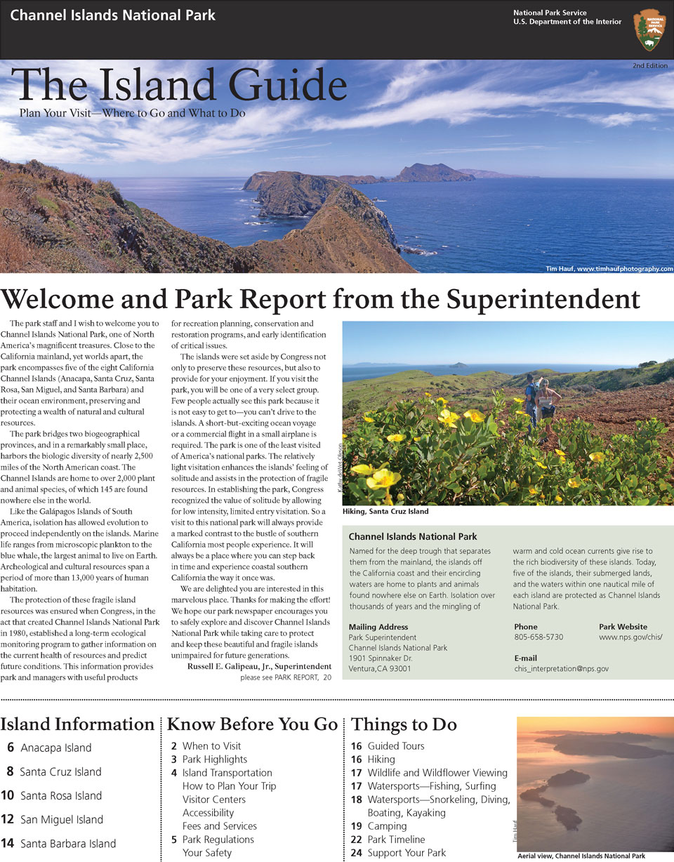 image of park newspaper with graphics and text.