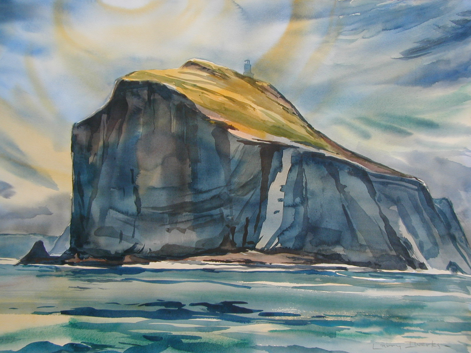 painting anacapa island by larry iwerks