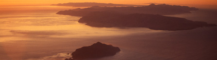 Aerial view Channel Islands