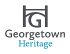 "Georgetown Heritage Logo with stylized ""G"" and ""H"""