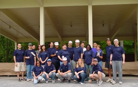 Photo of vounteer group service project at Carderock.