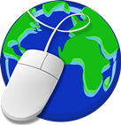 globe and computer mouse
