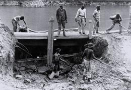 Photo of CCC restoring the canal