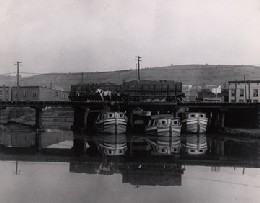 Photo of historic canal boats