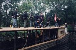 Photo of Civil War Reenactors on canal boat