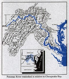Map of the Potomac Watershed
