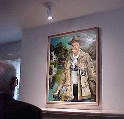 Photo of a Tom Kozar painting of Justice William O.  Douglas.