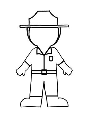 Blank outline of a Flat Ranger cut-out