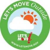 Sun and Cloud Let's Move Logo