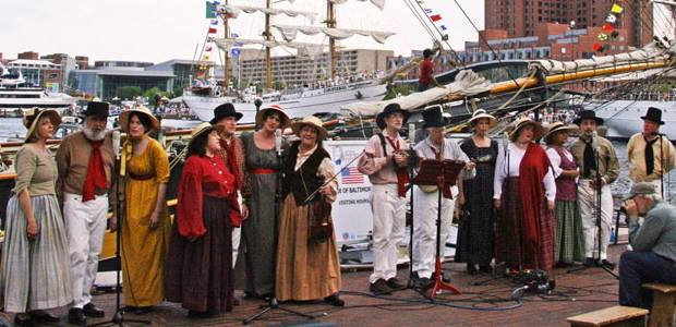 Photo of the Maritime Voices group performing.