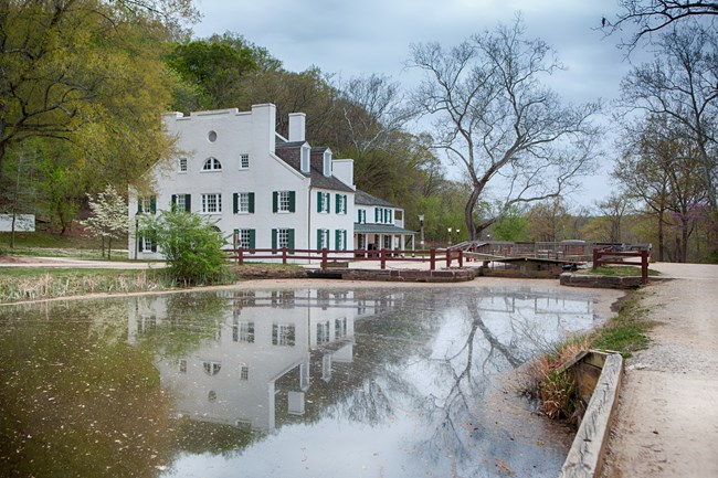 Great Falls Tavern and Lock 19 in the spring
