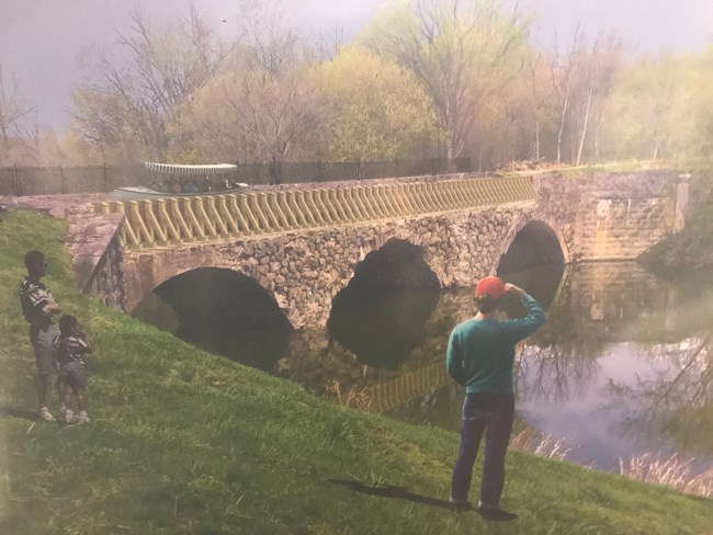 Artist rendering of the completed Conococheague Aqueduct post-restoration.