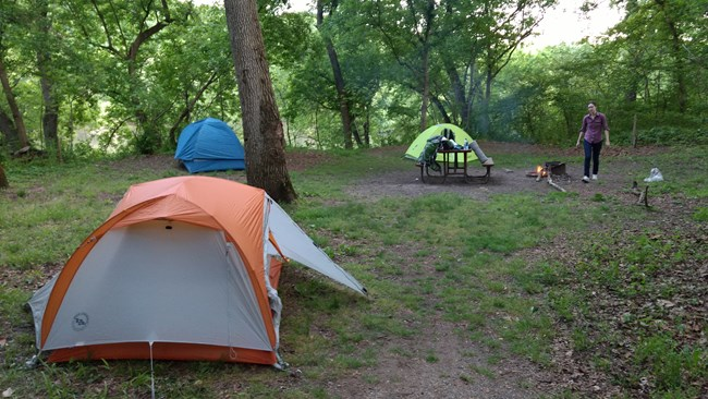 Tent camping is available at all of our campsites.