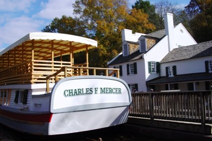 Charles F. Mercer replica packet boat in Lock 20
