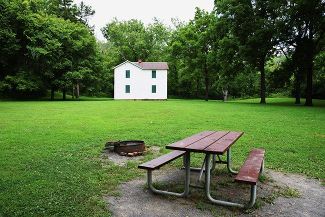 The Paw Paw Campsite with picnic tables and grills