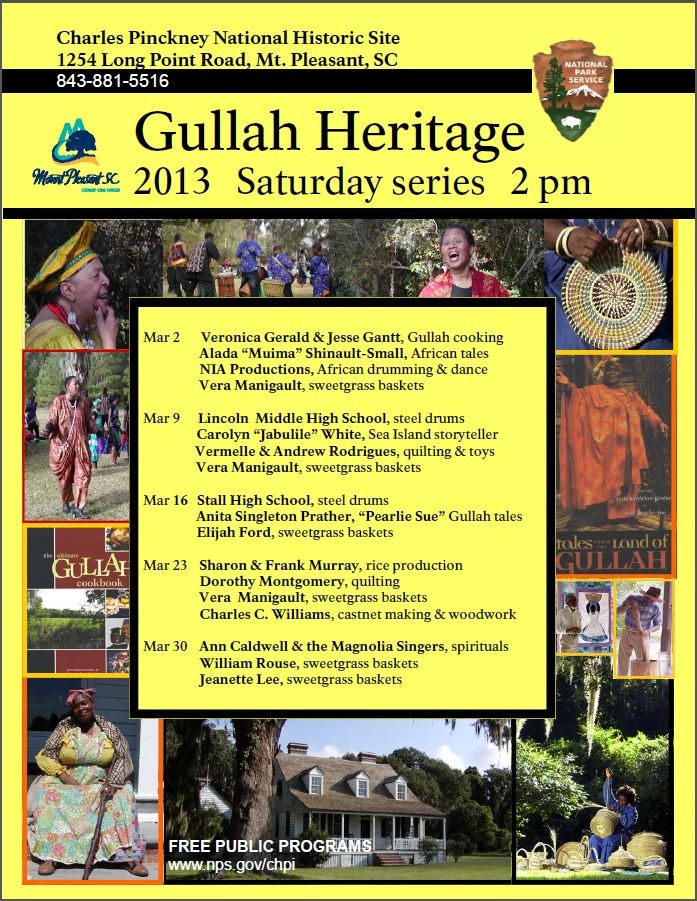 Gullah Programs 2013 Flyer