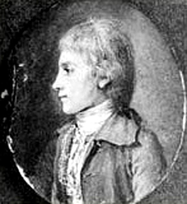 Historic drawing of Alexander Hamilton in 1773.