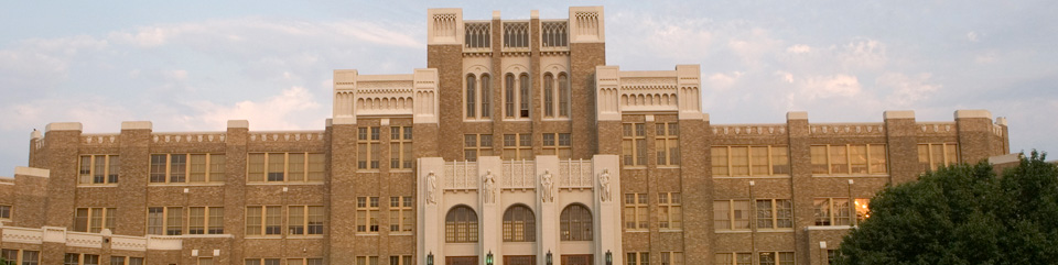 Front facade of Little Rock Central High School