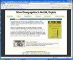 Home page for new website about school desegregation in Norfolk, VA.