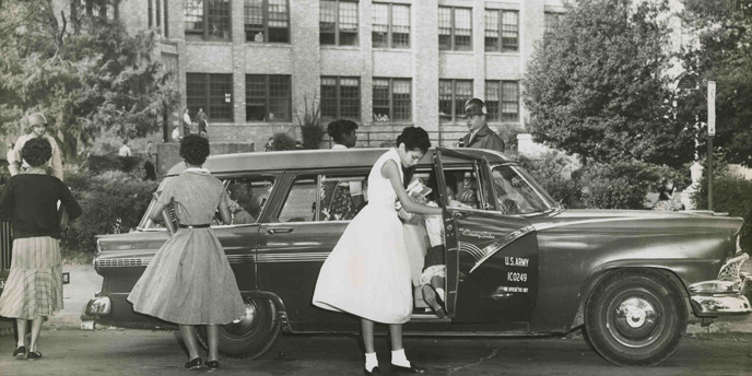 The Little Rock Nine Arrive