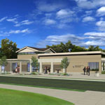 Architect's rendering of the new visitor center.