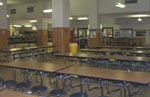 Inside the cafeteria at Little Rock Central High School.