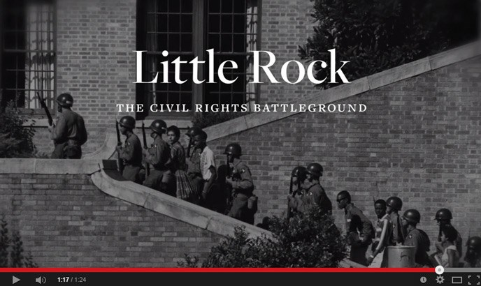 Little Rock the Civil Rights Battleground