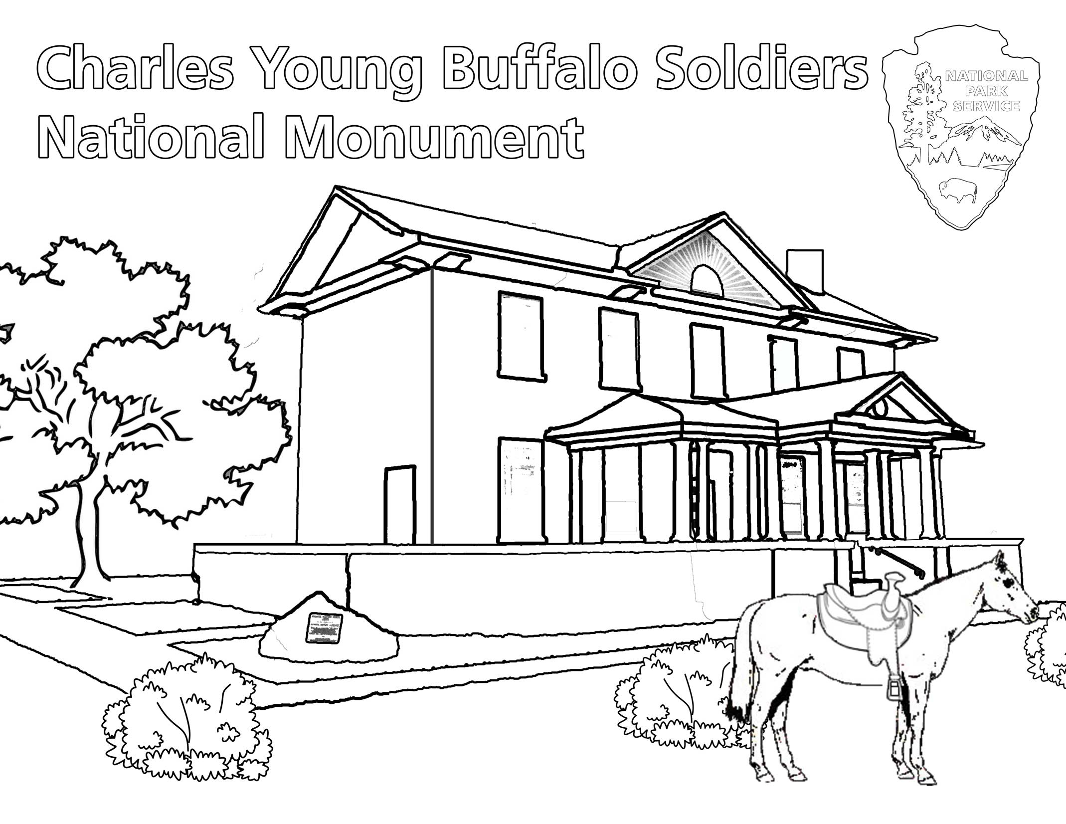 charles young buffalo soldiers coloring book charles young