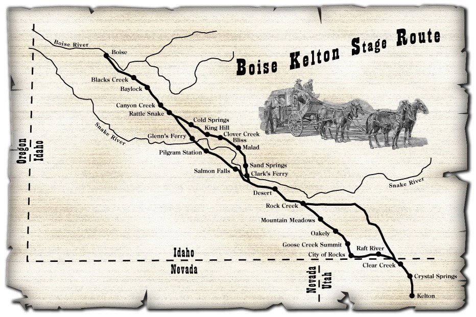 Boise Kelton Stage Route Map