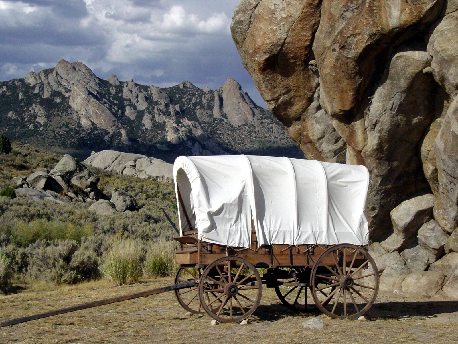 Wagon at Register Rock